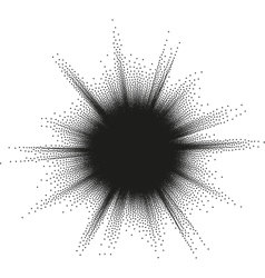 Halftone star burst EPS 10 vector image vector image