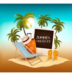 Summer holidays background vacation memories vector