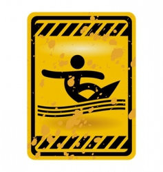 surf area sign vector image vector image