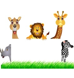 animal and white banner vector image vector image