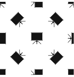 blank projection screen pattern seamless black vector image vector image