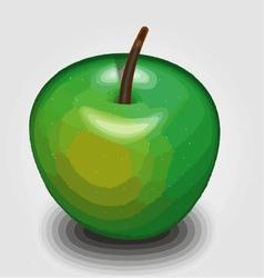 Green apple 3d rendering vector