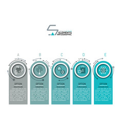 modern infographic design template vector image vector image