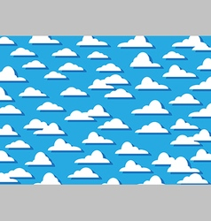 Pattern cloud background vector image