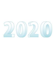 3d 2020 lettering vector