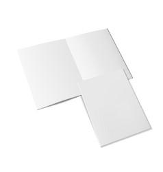 3d a4 flier or leaflet hald fold vector