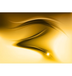 abstract smoke gold vector image