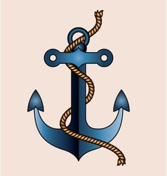 Anchor tattoo isolated icon design vector