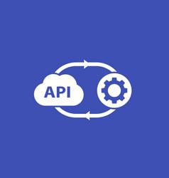 Api cloud software icon vector