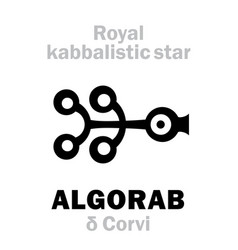 Astrology algorab the royal behenian kabbalistic vector