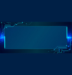 banner web template design abstract blue vector image