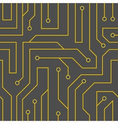 Black circuit board background vector