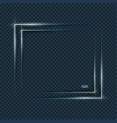 blue light frames background with blurs vector image