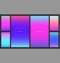 bright pink and blue gradients backgrounds set vector image