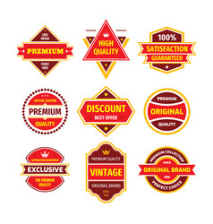 business badge set in retro design style vector image