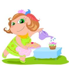 Cartoon housewife vector image