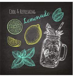 chalk sketch of lemonade vector image