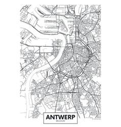 City map antwerp travel poster design vector