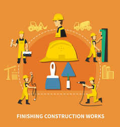 construction worker composition vector image