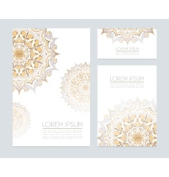 Corporate identity with floral ornaments vector