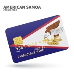 Credit card with American Samoa flag background vector