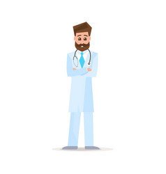 doctor character design male doctor vector image