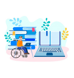 education and job online for physical handicapped vector image