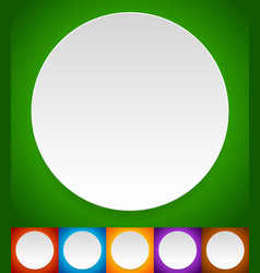 empty white circles over colorful backgrounds vector image