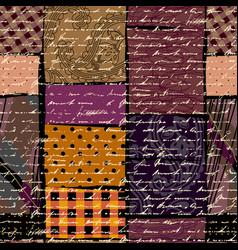 Ethnic grunge pattern vector