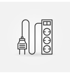 Extension cord icon or logo vector image