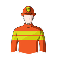 firefighterprofessions single icon in cartoon vector image