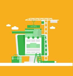 Flat web design and development concepts vector