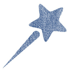 Flying star fabric textured icon vector
