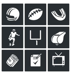 Football Icons Set vector