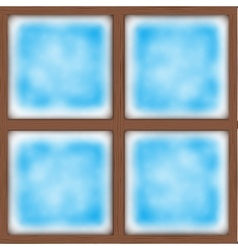 Frosted window vector