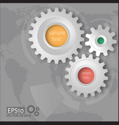 Gears with on the grey background vector