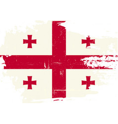 georgia scratched flag vector image