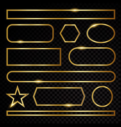 Gold elements symbol sign vector