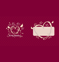 Greeting card design for valentines day vector