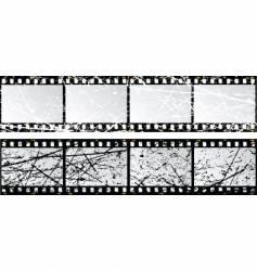 grunge film strips vector image