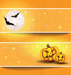 halloween background on the postcard vector image
