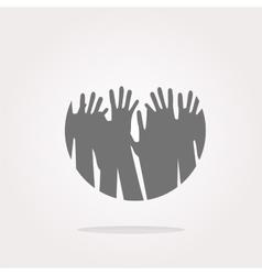 Hands Hands Icon Hands Icon Hands button vector image