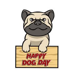 Happy dog day vector