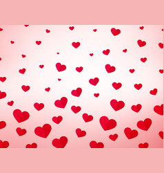 hearts love background vector image