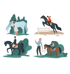 Horse racing sports or hobby for people vector