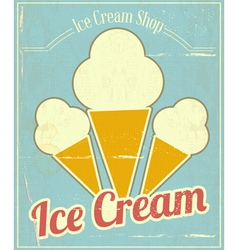 Ice cream vanilla card vector
