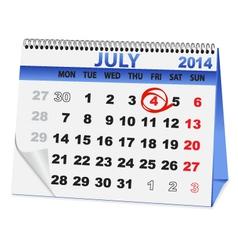 Icon calendar for July 4 vector