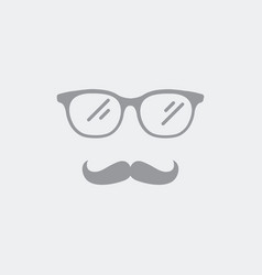 icon of eyeglasses and mustaches vector image