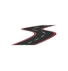 image of the logo of a minimalistic road with a vector image