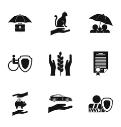 Keeping icons set simple style vector image vector image